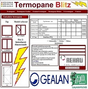 calculator termopane online